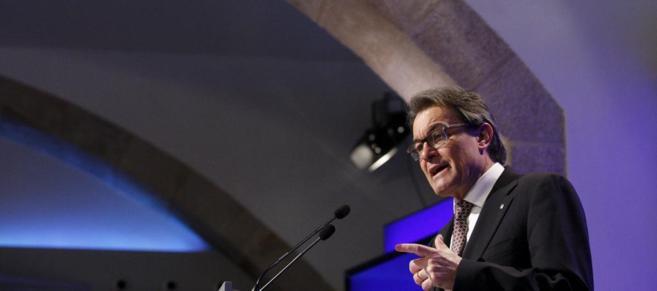 El president Artur Mas, en su comparecencia del martes