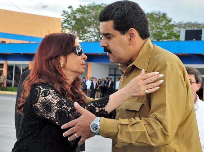 Cristina Fernández y Nicolás Maduro, juntos en un acto en enero de...