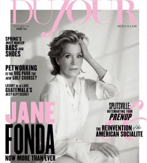 Fonda, fotografiada por Thomas Whiteside en la portada de Du Jour.