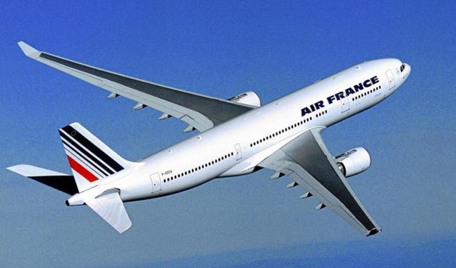 Vista de un avión Airbus A330-200 de Air France