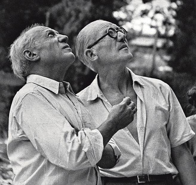 Picasso y Le Corbusier, en Marsella, en 1952.