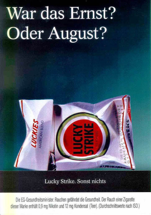 """La marca preguntaba en este anuncio """"¿Es esto en serio [Ernst] o..."""