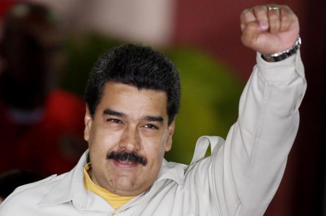 Nicolás Maduro, durante un momento de un mitin en el Palacio de...