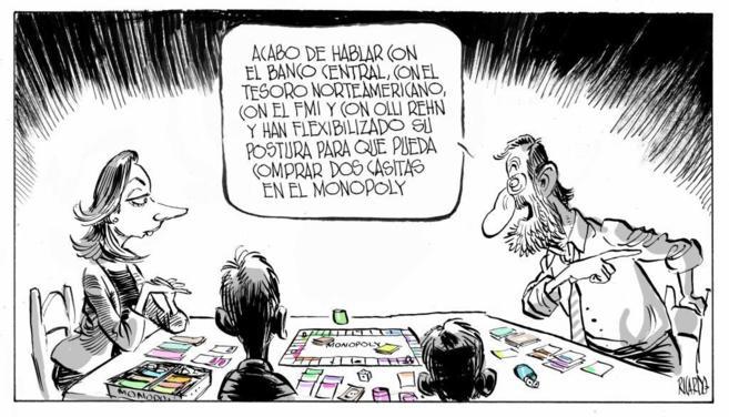 Dibujo de Ricardo Martínez, publicado en EL MUNDO el 5 de marzo de...