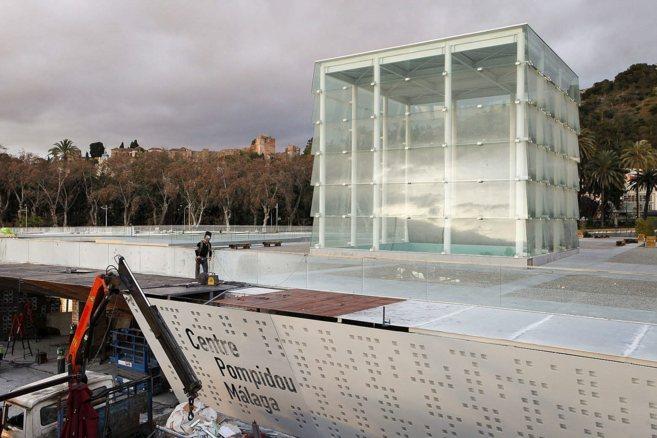 Obras de adaptación del Cubo, el edificio de Málaga que albergará...