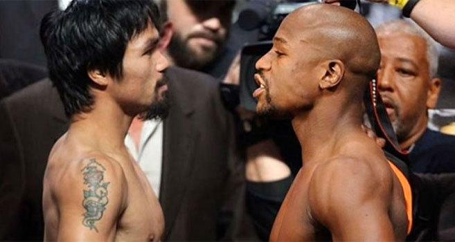 Manny Pacquiao y Floyd Mayweather.