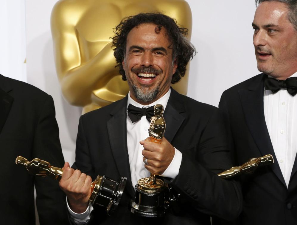 Alejandro Iñarritu, director de 'Birdman', y el productor...