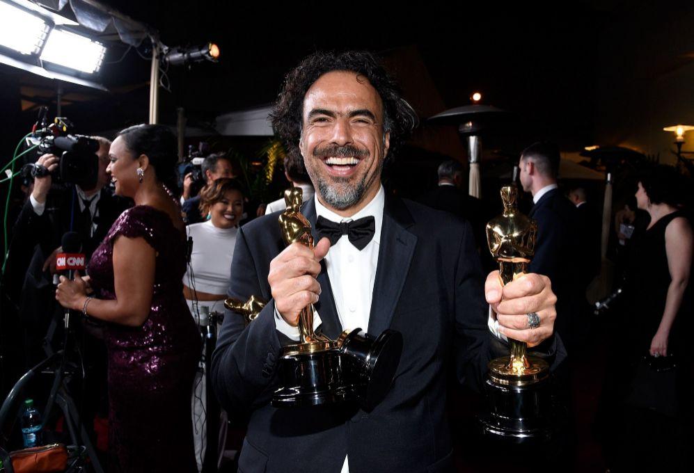 El director Alejandro Gonzalez Inarritu, al llegar al baile del...