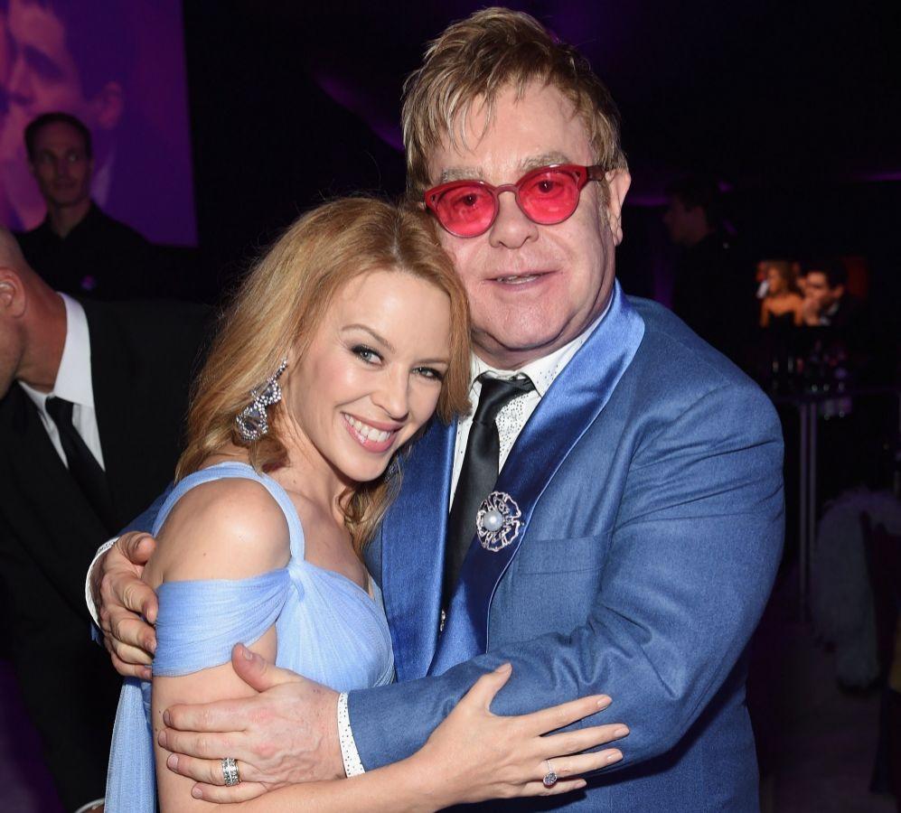 Kylie Minogue y Elton John, en la fiesta organizada por el cantante en...