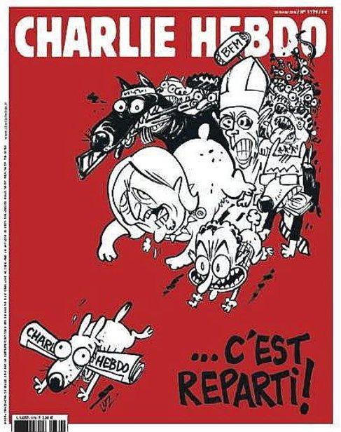 Portada del próximo número de la revista satírica 'Charlie...