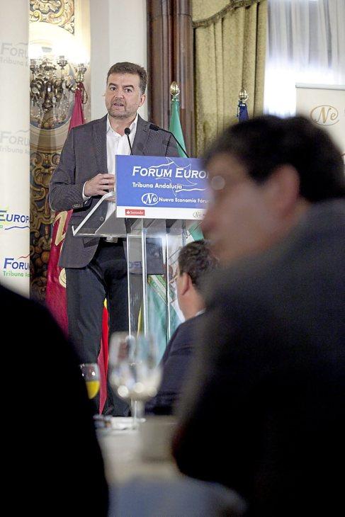 El coordinador general de IU, Antonio Maíllo, el lunes.