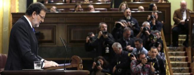 Mariano Rajoy, en su discurso en el Debate sobre el estado de la Nación.