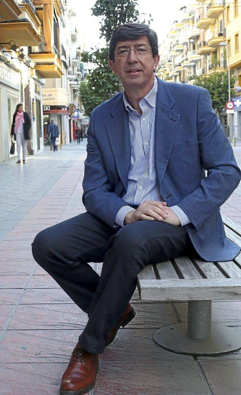 Juan Marín. candidato de Ciudadanos a la Junta de Andalucía.