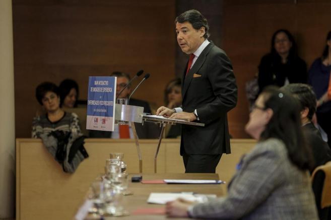 El presidente de la Comunidad de Madrid, Ignacio González, en un acto...