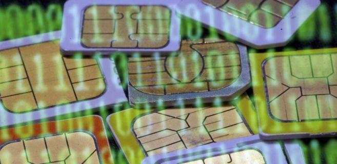 Varias tarjetas SIM para dispositivos de teléfonos móviles.