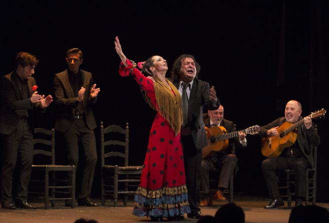 Rosario Toledo, en pleno espectáculo ADN.