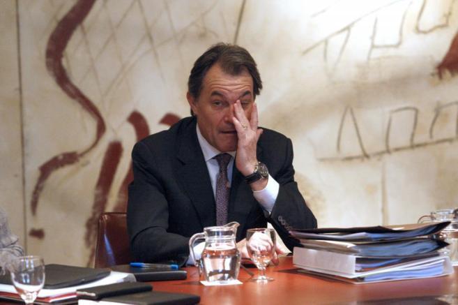 Artur Mas, con la vicepresidenta catalana, Joana Ortega.