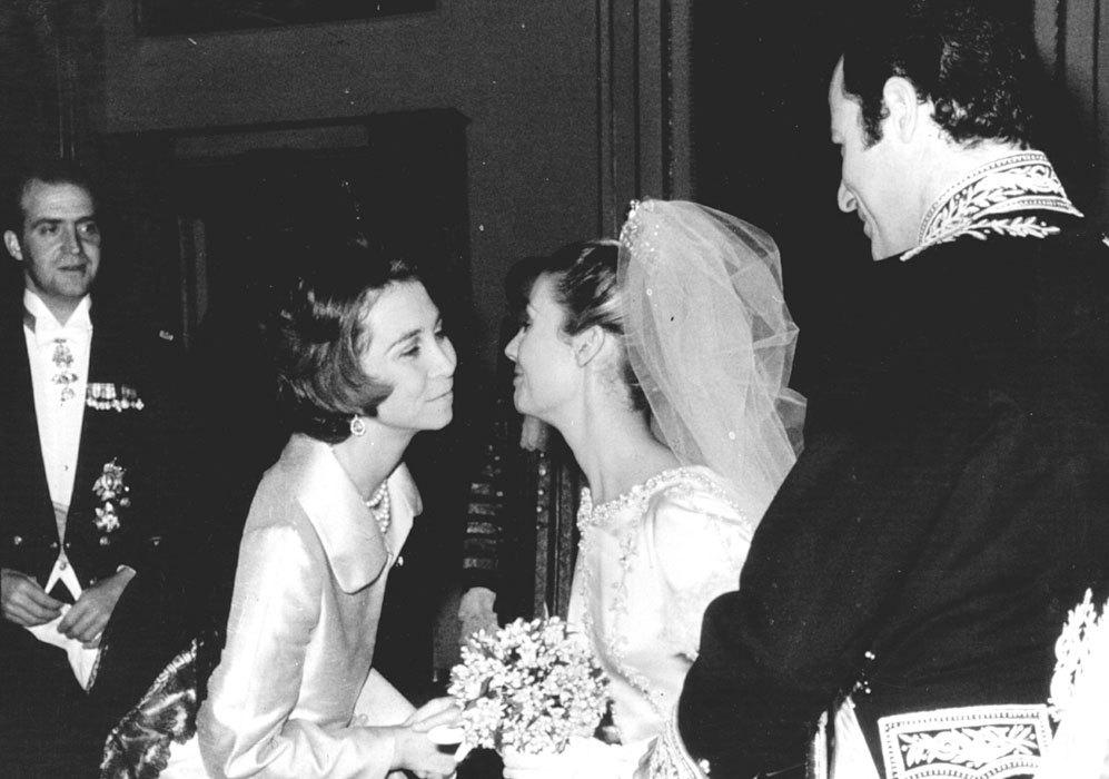 En la boda estuvieron presentes también los Reyes de España, Don...