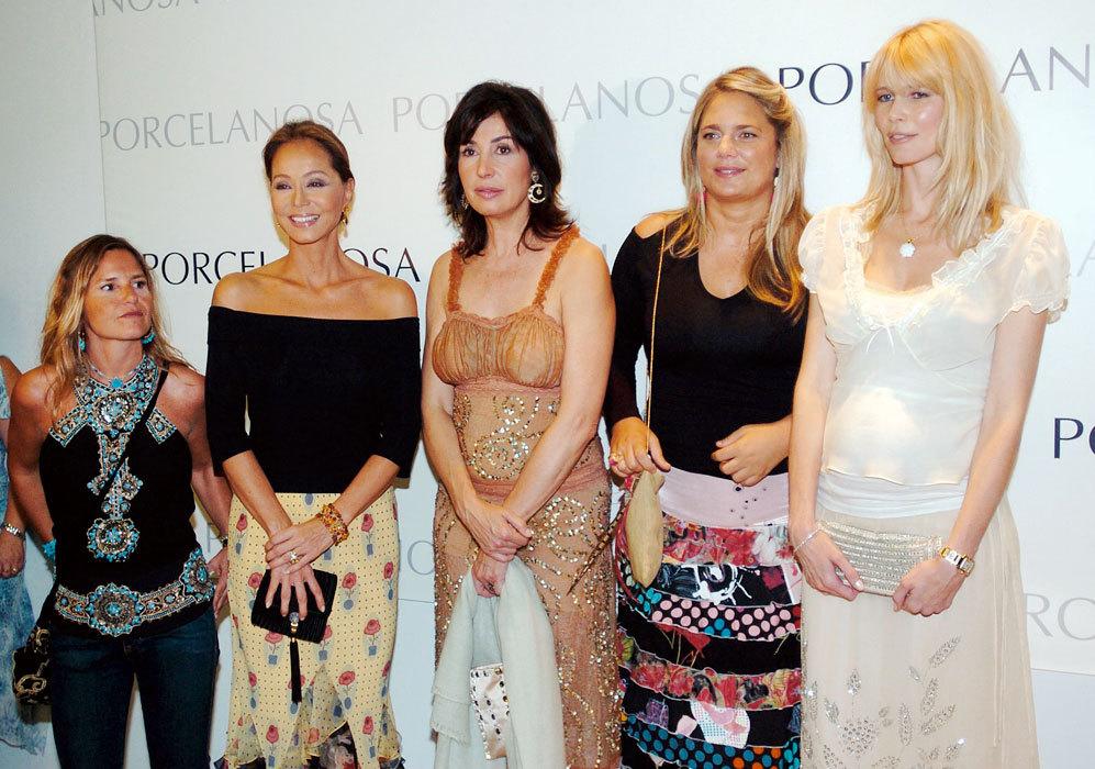 Coincidió con Eugenia Martínez de Irujo, Isabel Preysler, Isabel...