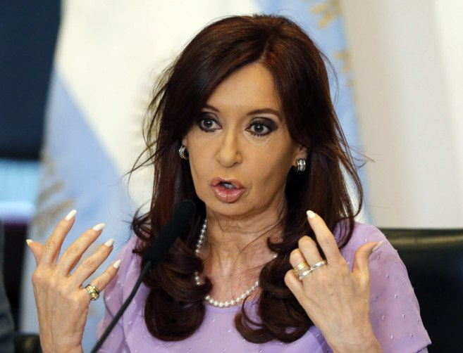 La presidenta argentina, Cristina Fernández de Kirchner, durante un...