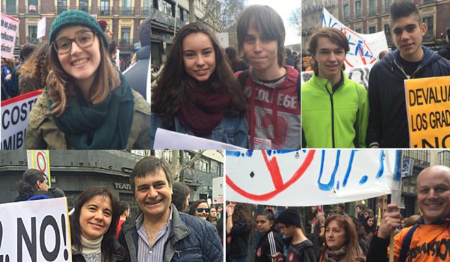 Algunos de los asistentes a la manifestación convocada por el...