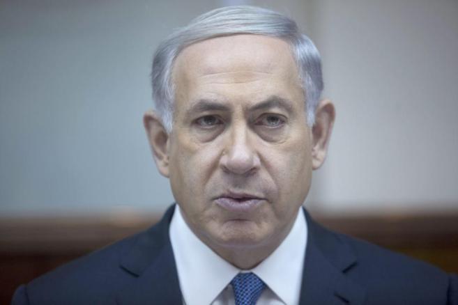 El primer ministro israelí, Benjamin Netanyahu, durante un encuentro...