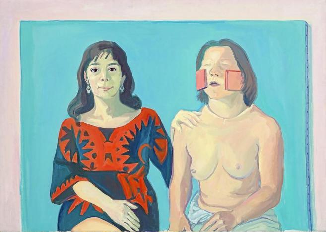 'Silvia Goldsmith y yo' de Maria Lassnig.