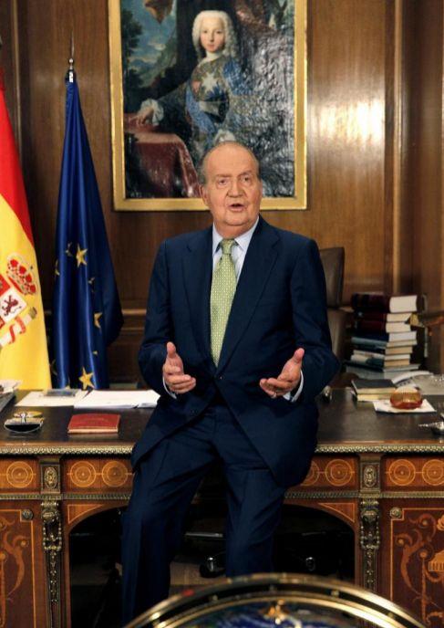 Don Juan Carlos, en su antiguo despacho de Zarzuela.