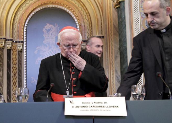 El arzobispo Antonio Cañizares, ayer, en la apertura del año...
