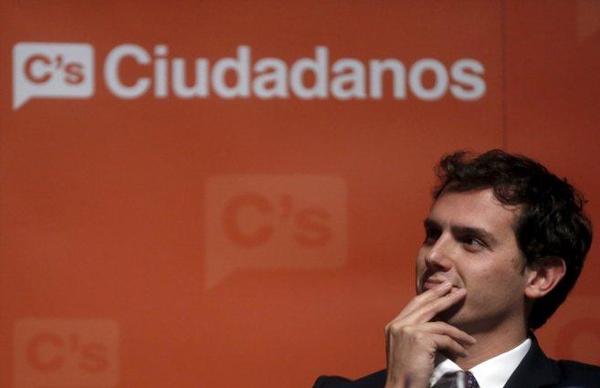 El presidente de Ciudadanos, Albert Rivera, durante la presentación...