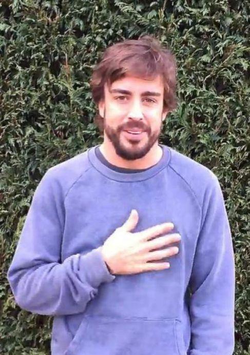 Alonso, en un fotograma de su vídeo.