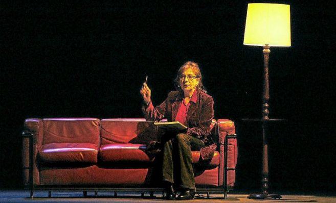 La actriz, durante la representación de 'Sin noticias de Gurb'.