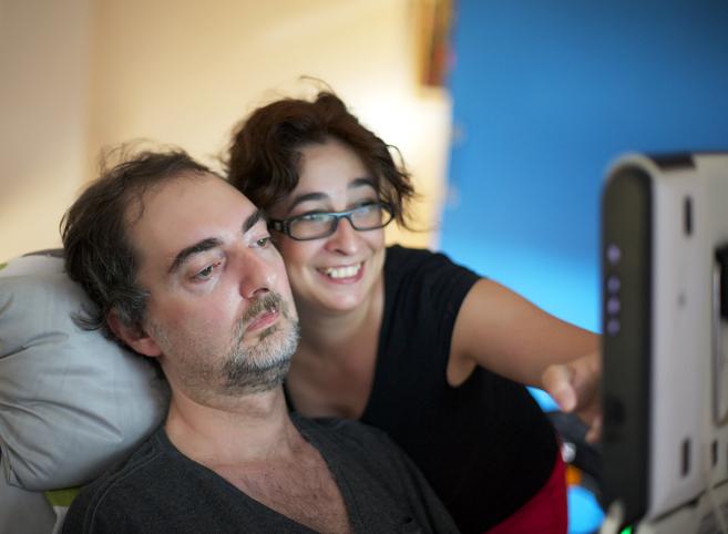 Con su mujer.  Pablo, quien falleció con 49 años, y su esposa Ana en...