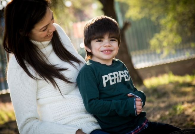 Janette  con su hijo Iñaki, de cuatro años.