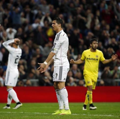 Cristiano se lamenta tras una oportunidad fallada ante el Villarreal.