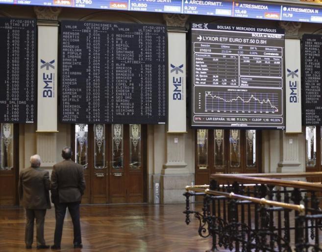 Vista general de la Bolsa de Madrid