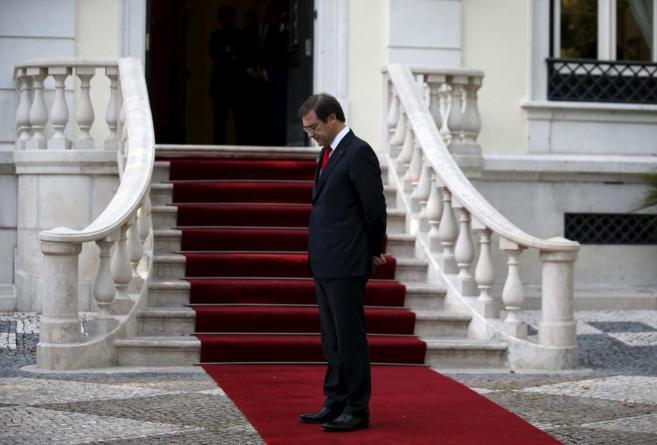 El primer ministro portugués, Pedro Passos Coelho, en el Palacio Sao...