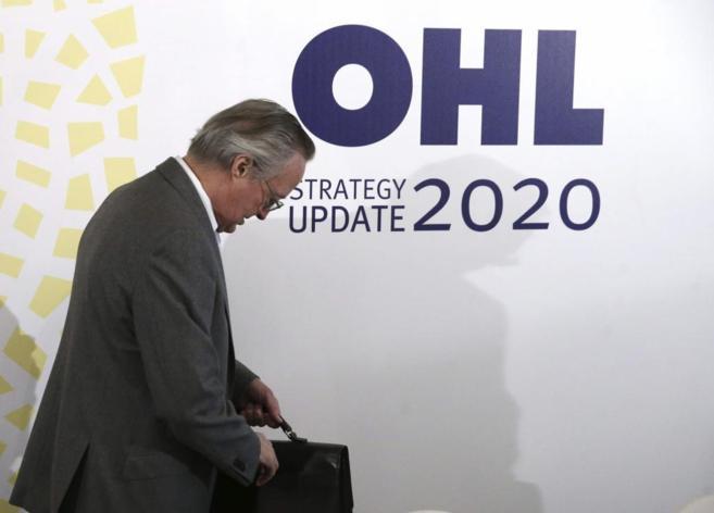 El consejero delegado de OHL, Josep Piqué, momentos antes de...
