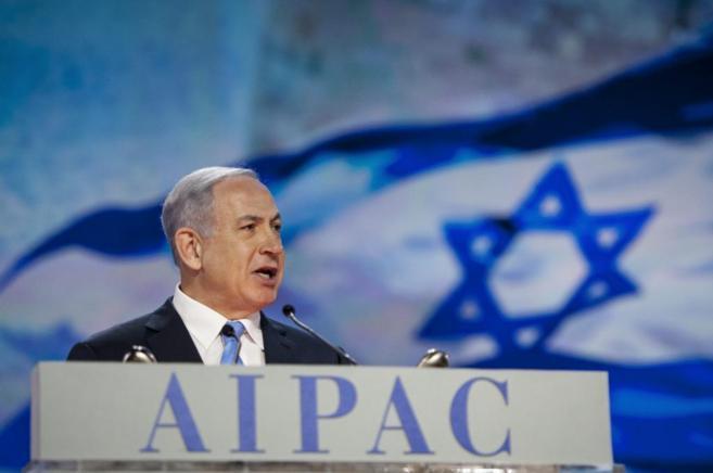 El primer ministro israelí, este lunes, en su conferencia en...
