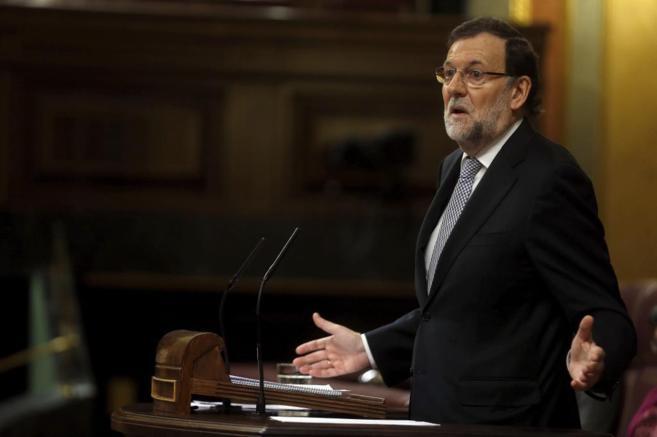 Mariano Rajoy, durante el Debate sobre el estado de la Nación.