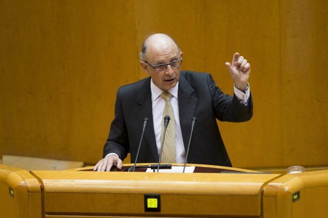 Cristóbal Montoro, ministro de Hacienda, en una intervención en el...