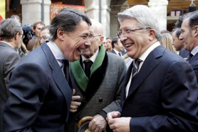 Ignacio González y Enrique Cerezo, en la sede de la Comunidad de...