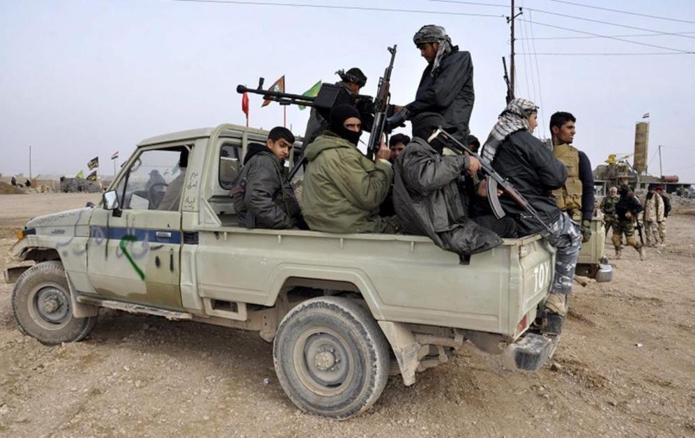 Voluntarios de la milicia chiíta que combate al Estado Islámico en...