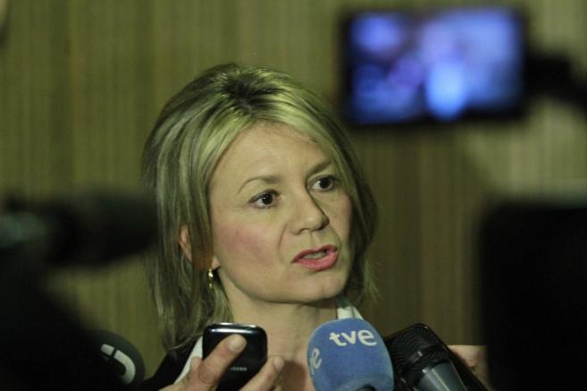 La consellera Núria Riera durante una rueda de prensa reciente.