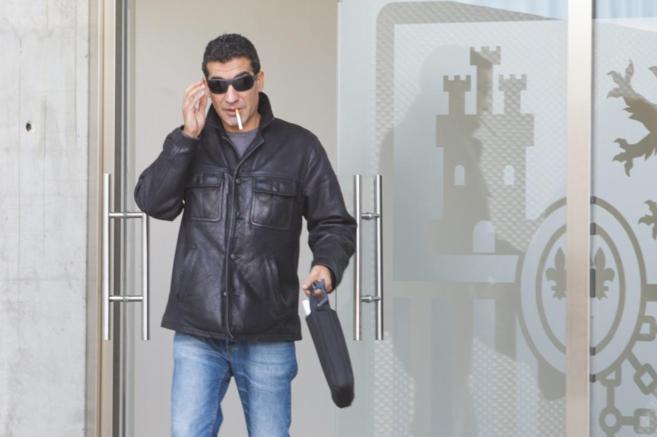 David González, a la salida del juicio celebrado en la Audiencia...