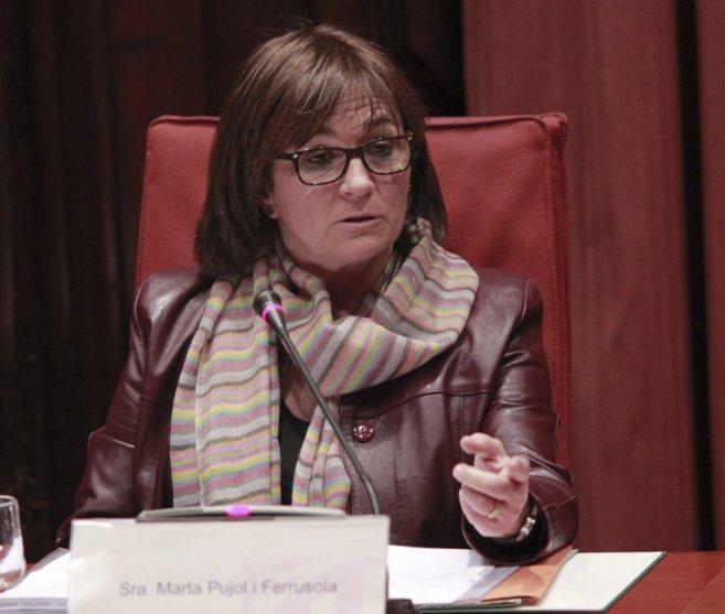 Marta Pujol Ferrusola durante su comparecencia en el Parlament de...