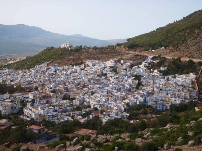 La villa de Ketama desde las montañas del Rif.