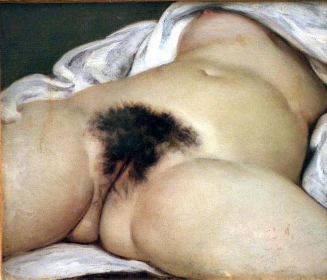'El origen del mundo', del pintor francés Gustave Coubert.