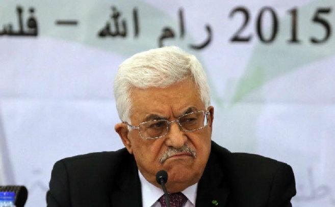 Abu Mazen, el pasado miércoles en Ramala durante el 27º Congreso de...