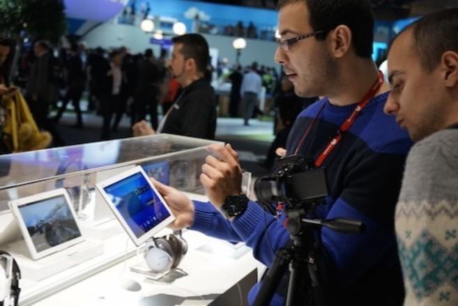 Ambiente del Mobile World Congress de 2015, en Barcelona.